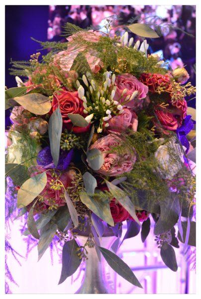 composition florale centre de table mariage