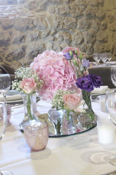 Centre de table design floral bouquet romantique décoration florale mariage fleurs mariage fleuriste mariage aurelie lafond-doligniere fleurs d'un jour www.fleursdunjour.fr