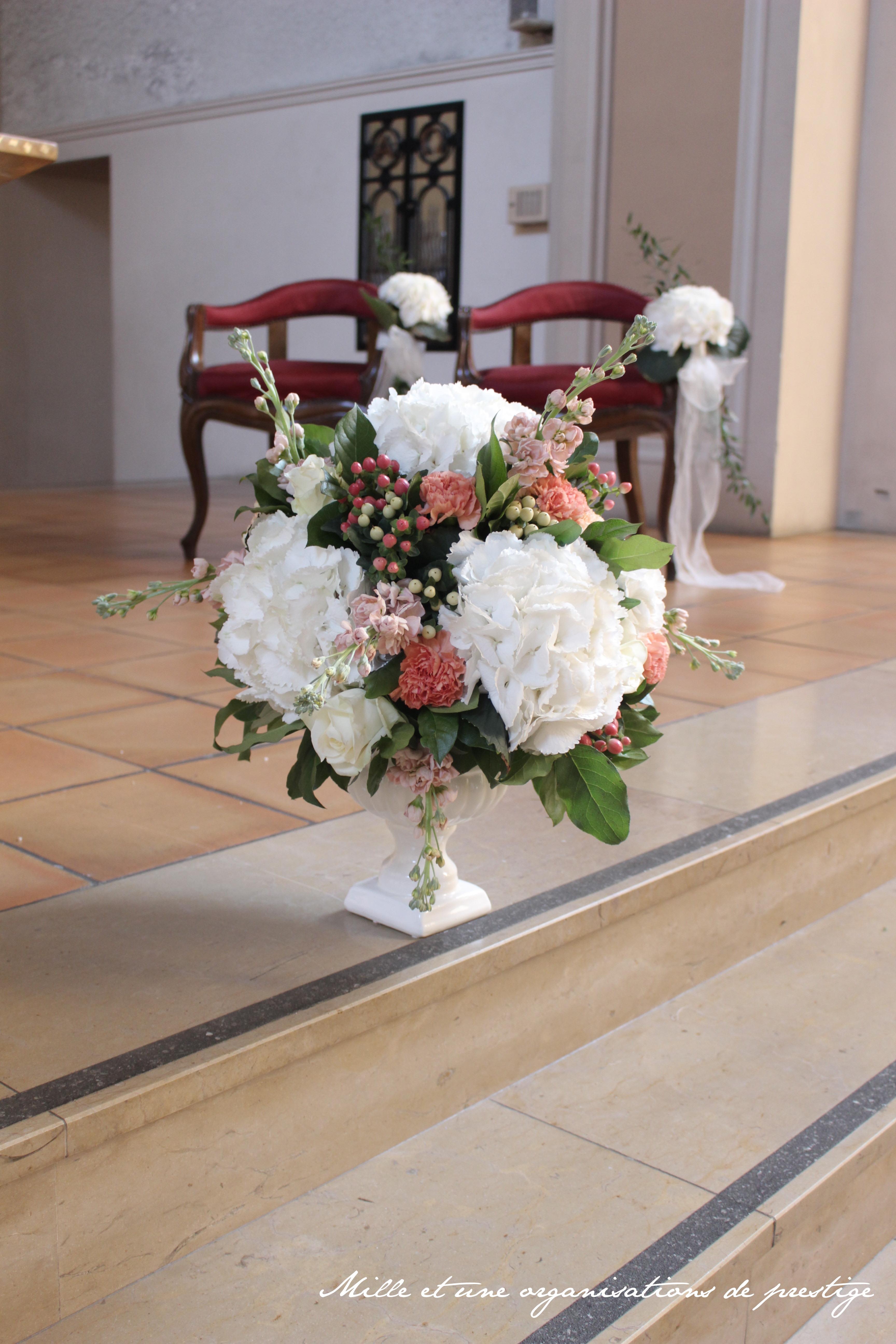 composition florale cérémonie religieuse