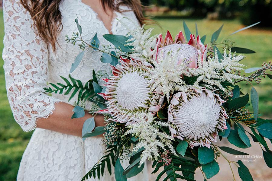 Bouquet de mariée bohème design floral bouquet romantique décoration florale mariage fleurs mariage fleuriste mariage aurelie lafond-doligniere fleurs d'un jour www.fleursdunjour.fr