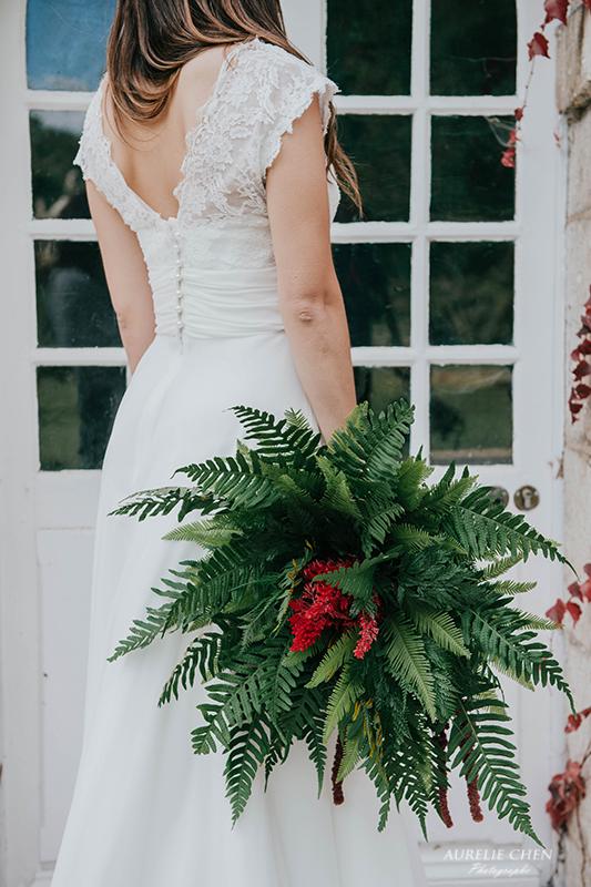 Bouquet de mariée végétal design floral bouquet romantique décoration florale mariage fleurs mariage fleuriste mariage aurelie lafond-doligniere fleurs d'un jour www.fleursdunjour.fr