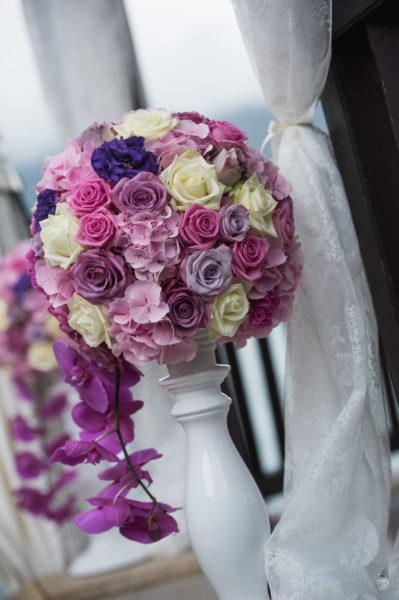 composition florale ceremonie Couronne centre de table Bouquet de mariée orchidee fleurs mariage décoration fleurs mariage fleuriste artisan