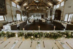 chemin de table végétal table mariage
