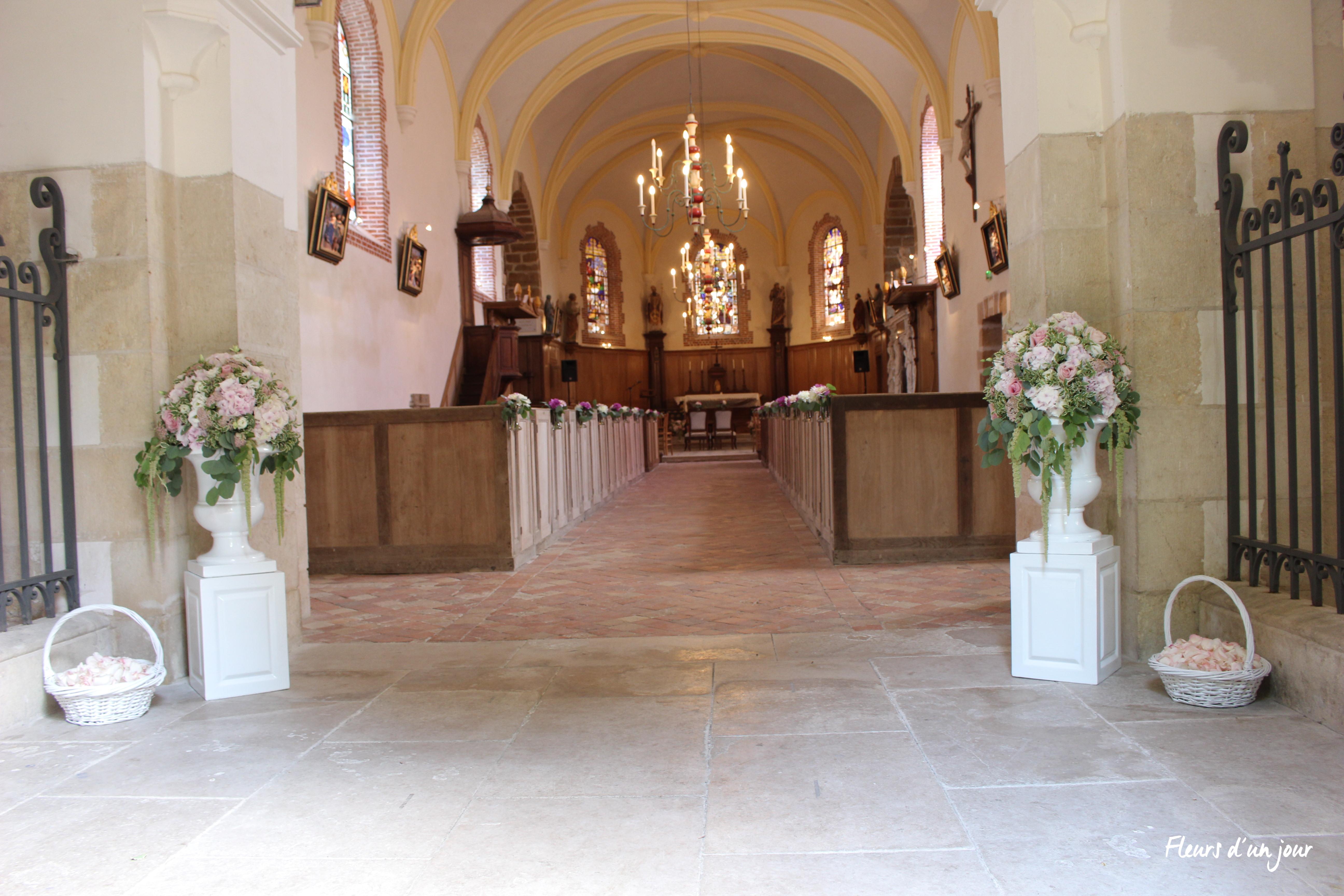 mariage château de Vallery décoration florale fleurs mariage décoratrice fleuriste fleurs d'un jour