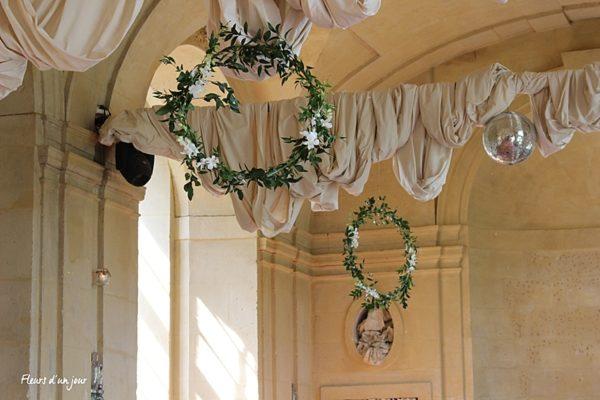 Cerceau suspendu Décoration mariage Décoration florale mariage Fleurs mariage Fleurs d'un jour