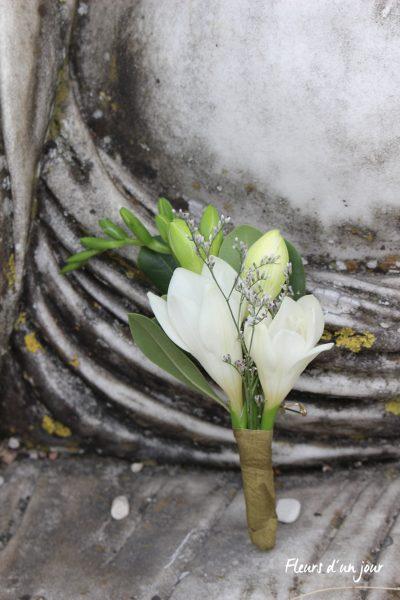 bout de banc fleurs mariage fleuriste mariage décoration florale mariage au château château de Vallery fleurs d'un jour