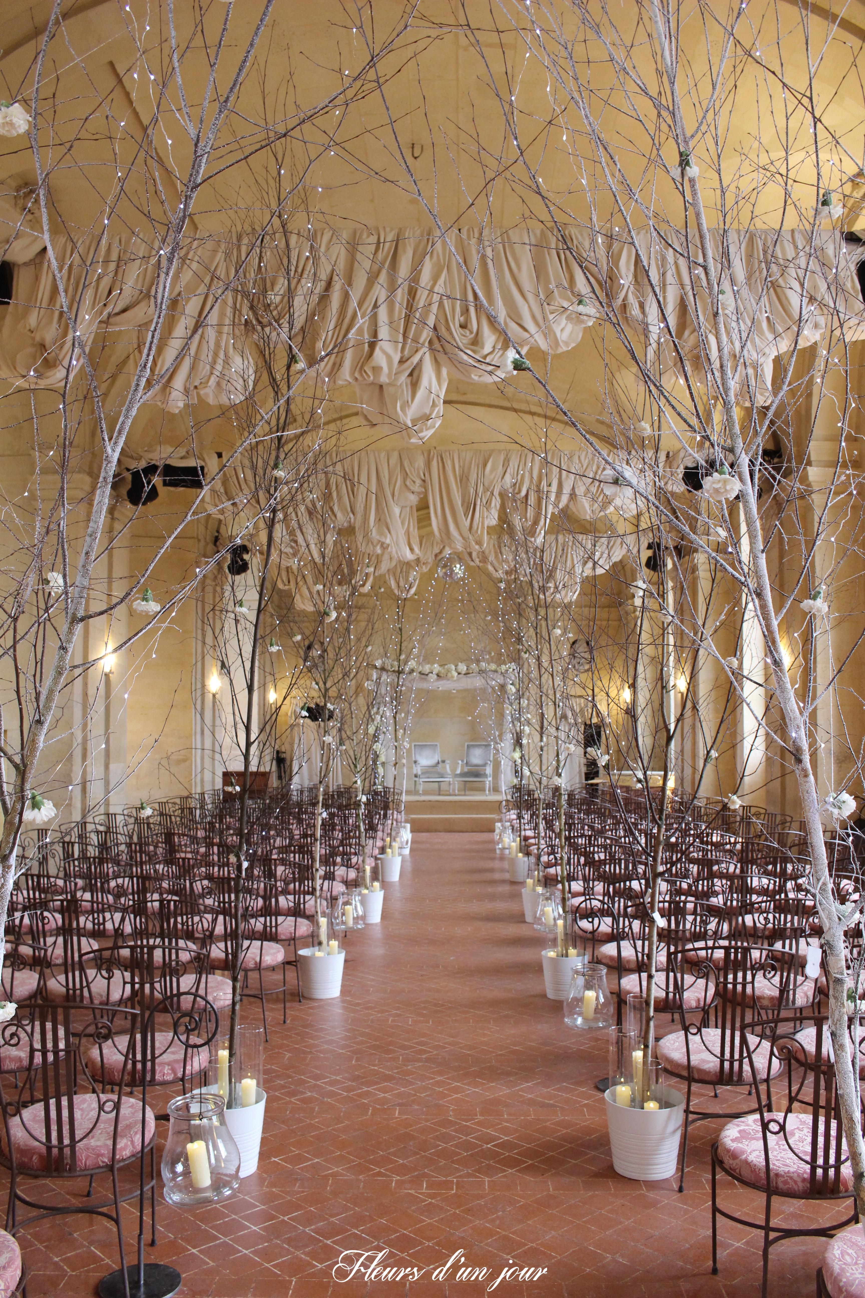 mariage chateau de vallery grande galerie chateau de vallery fleurs d'un jour