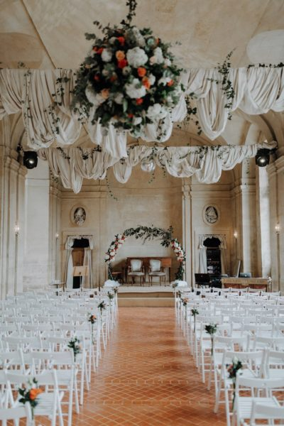 bouquet de mariée château de Vallery mariage au château de Vallery design floral aurélie lafond doligniere fleurs d'un jour mariage décoratrice mariage grande galerie château de Vallery fleuriste mariage