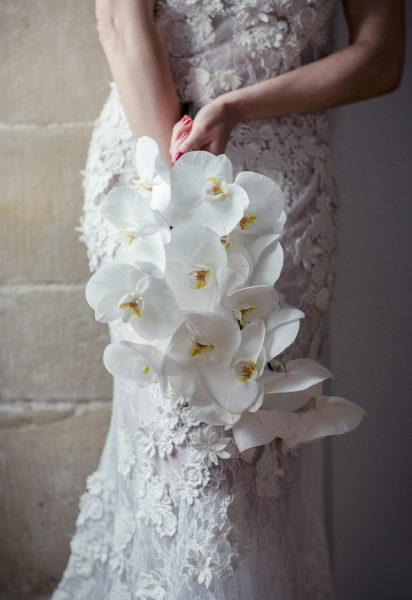 Bouquet de mariée, orchidée, fleurs, mariage, décoration, fleurs mariage, fleuriste, artisan