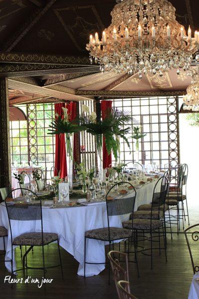 Salon des musiques Centre de table mariage Chateau de Vallery Décoration mariage Décoration florale mariage Fleurs mariage Fleurs d'un jour