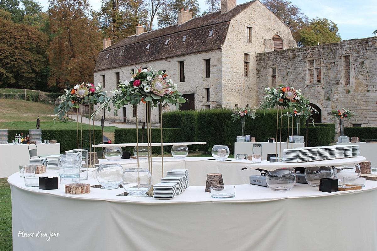 Cérémonie mariage, houppa, décoration florale, décoration mariage, fleurs mariage, fleuriste mariage, fleuriste , château de Vallery, fleurs d'un jour