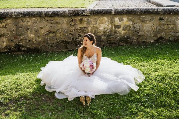 Mariage au chateau de Vallery fleurs d'un jour