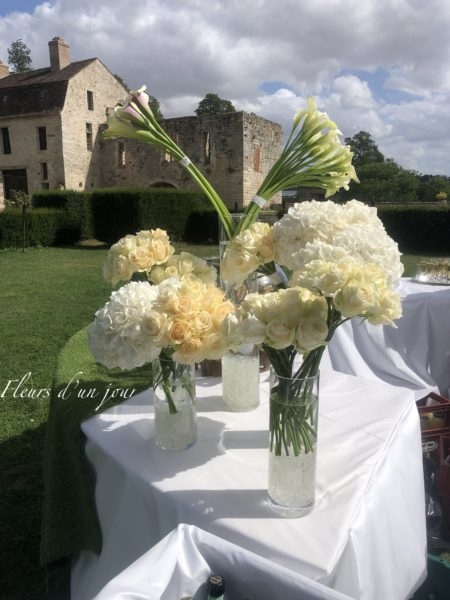 mariage chateau de Vallery fleurs d'un jour fleuriste mariage décoratrice florale mariage aurelie lafond doligniere